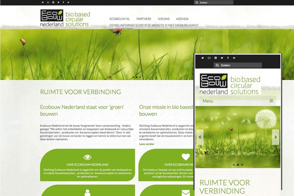screenshot website EcobouwNL